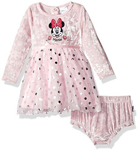 Disney Ballerina Girls - Disney Baby Girls' Minnie Mouse Tutu Dress and Diaper Cover Set, Ballerina, 0-3 Months