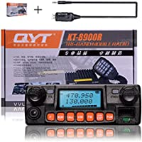 NKTECH QYT KT-8900RE Quad Band VHF UHF Transceiver 136-174MHz 240-260MHz 350-390MHz 400-480MHz DTMF 2Tone 5Tone 25W Car/Trunk Ham Mobile Transceiver Two Way Radio With USB Programming Cable