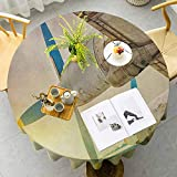 Fabric Tablecloth Old Wing Aircraft with Propellers at Sunset Snowy Winter Sky Image Brown Blue Yellow Wedding Party Washable, decorations, holiday homes, Christmas parties, picnics Diameter