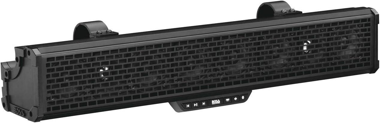 """2015-2020 Kawasaki KAF820 Mule Pro-FXT UTV Fits New Boss Audio 27/"""" Bluetooth RGB Sound Bar"""