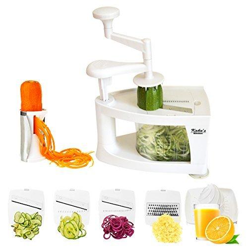 Spiralizer, Spiral Vegetable Slicer, Zucchini Noodle Maker, Mandoline Slicer for Low Carb/Paleo/Gluten-Free Meals