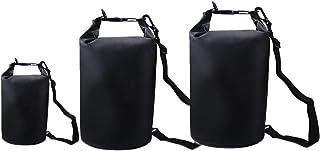 NaiCasy 3 Pezzi impermeabilizzano Il Sacchetto Asciutto Ocean Pack Portable Roll Top Sacco per la Nautica, alla deriva e Outdoor attività acquatiche 5L / 10L / 20L Sport Esterna Accessori