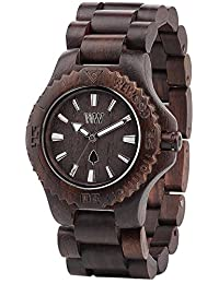 Wewood Men's Date DATE-CHOCOLATE Brown Wood Analog Quartz Watch with Brown Dial