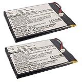 2pcs eBook Reader Li-Po Battery EBBK-R70F452 for Pandigital Nova, Supernova Pandigital MLP656095, Pandigital NOVA, Pandigital R70A200, Pandigital R70B200, Pandigital R70F452, Pandigital R70F453