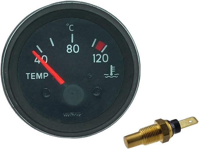 Universal Temperaturanzeige Mit Sensor 40 120 C 12 Volt Ø 52 Mm Auto