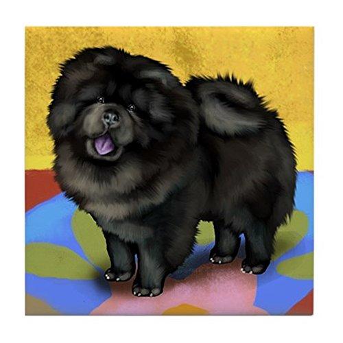 - CafePress - CHOW CHOW DOG BLACK Tile Coaster - Tile Coaster, Drink Coaster, Small Trivet