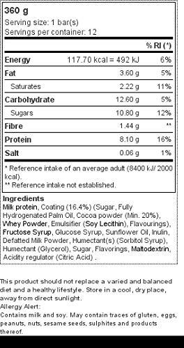 Prozis Protein Snack, Chocolate Belga - 12 Unidades: Amazon.es: Salud y cuidado personal