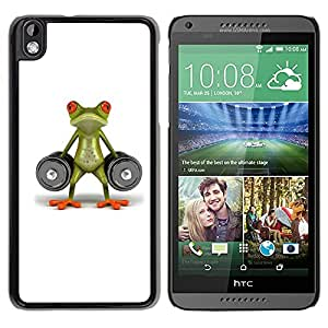 Paccase / SLIM PC / Aliminium Casa Carcasa Funda Case Cover para - Lifting Gym Frog Strong Body Building - HTC DESIRE 816