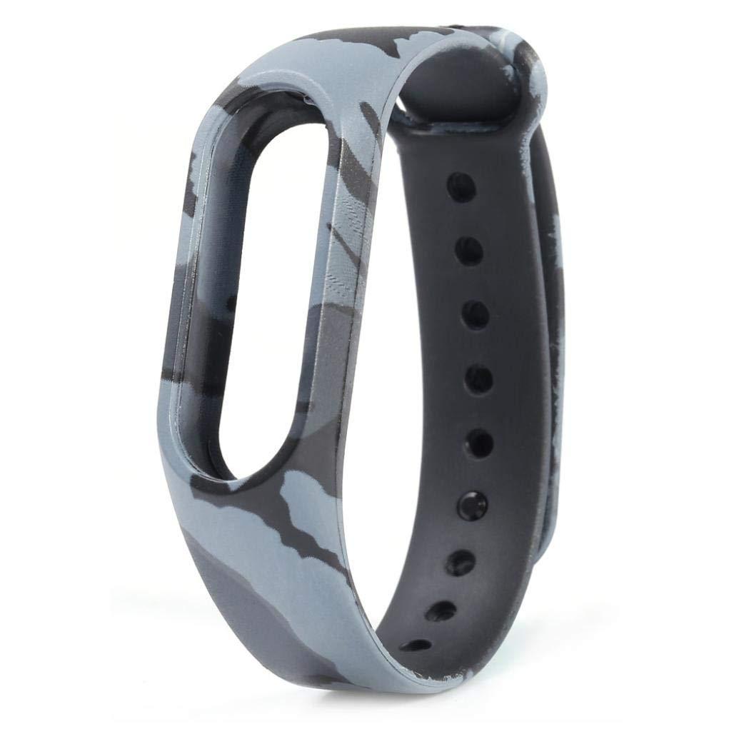 Correas para xiaomi Band 2, ☀️Modaworld Pulsera de Camuflaje Reemplazo de Pulsera Correa de Reloj Elegante Reemplazo de Repuesto para Xiaomi MI Band 2 ...