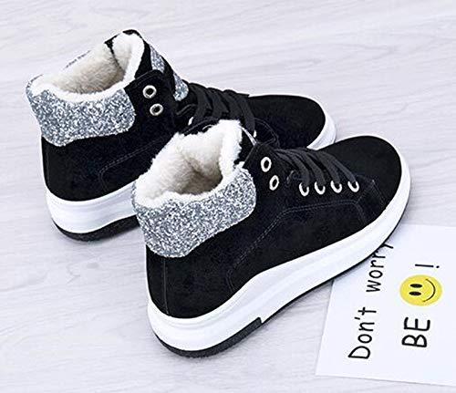 AGECC Damen Stiefel Bequeme Schöne Dauerhafte    Stiefel Weibliche Studentinnen Mit Warme Winter Baumwolle Gepolsterte Schuhe Verdickte Kaschmir Stiefel Schuhe aa9c16