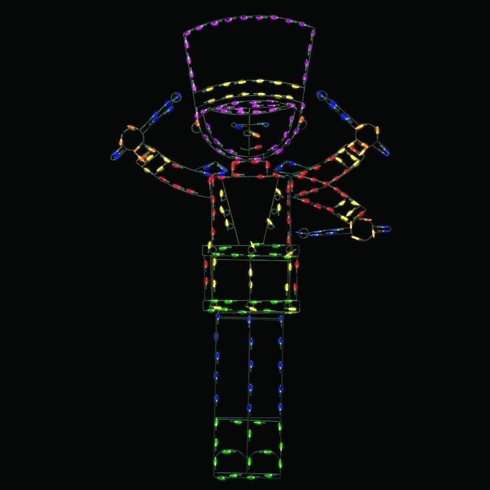 72 in. Pro-Line LED Wire Decor Toy Drummer Boy Yard Art