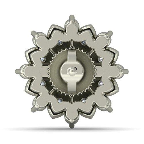 Or blanc 14K 0,71CT TW Round-cut-diamond (IJ   SI) Boucles d'oreille à tige