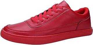 Chaussures ADESHOP Mode Les Loisirs des Hommes De Couleur Unie Lacer des Chaussures De Course De Sport Léger Sneaker Confortable Chaussures Plates Antidérapant Baskets