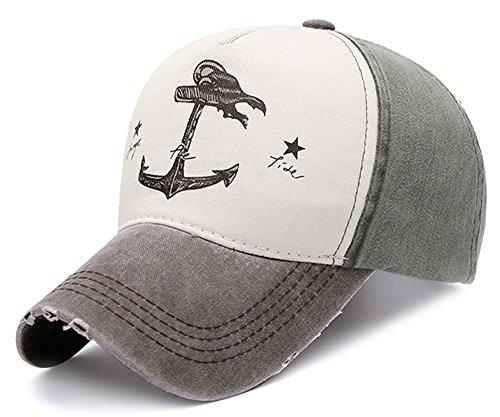 Glamorstar Pirate Ship Anchor Baseball Hat Printing Adjustable Hip-Hop Cap Brown Atrovirens](Womens Brown Baseball Caps)