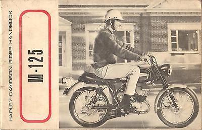 1967 HARLEY DAVIDSON MOTORCYCLE M-125 OWNER'S ( RIDER HANDBOOK ) MANUAL (156)
