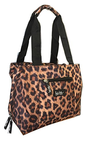 "Price comparison product image Nicole Miller of New York Insulated Lunch Cooler 11"" Lunch Tote (Leopard)"