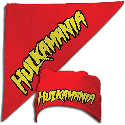 Hulk Hogan Costume Bandana Hulkamania Logo -Red]()