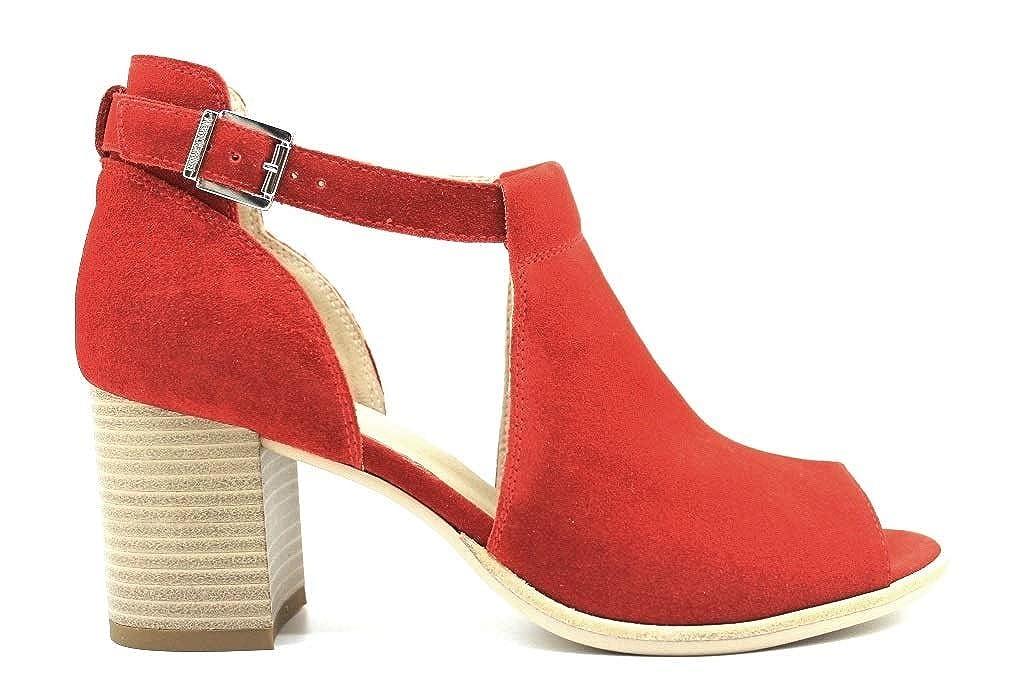 Rouge noir Giardini Femmes Sandale MODèLE P907630D Rouge Rouge  nouvelle exclusivité haut de gamme