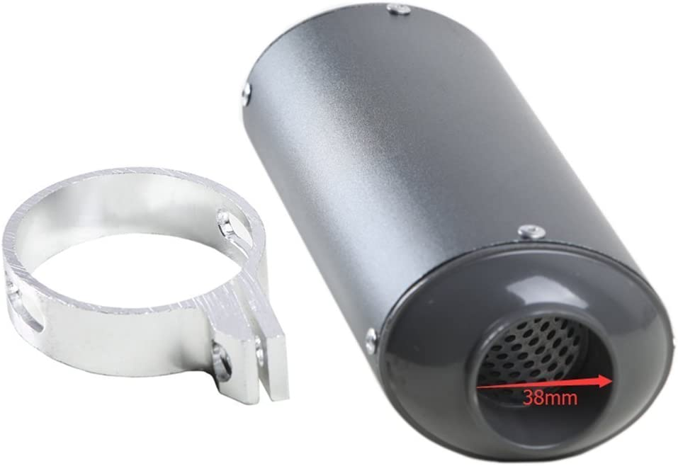 WPHMOTO 1.5 38mm Motorcycle Scooter Exhaust Muffler Pipe Silencer with Clamp For Motorbike Scooter Dirt Pit Bike