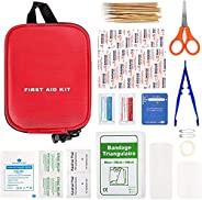 100 PiecesAll-Purpose First Aid Kit-Professional Mini Survival Box,Compact Emergency kit First aid for Office,
