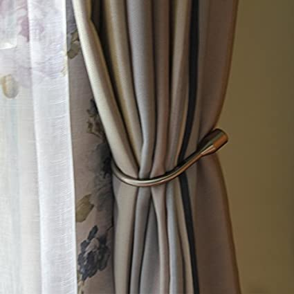 Yeexue Curtain Holdback U Arm Hook Metal Drape Tieback One Pair Brass