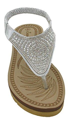 Savannah Damen Slingback Silber