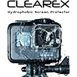 CLEAREX Hydrophobic Screen Protector for GoPro Hero 7 (Black Only), 6, and 5 by CLEAREX | Water Repellent, Tempered Glass, Ultra-Clear, Anti-Scratch | Capture Clearly
