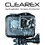 CLEAREX Hydrophobic Screen Protector for GoPro Hero 5 & 6 by CLEAREX | Water Repellent, Tempered Glass, Ultra-Clear, Anti-Scratch | Capture Clearly