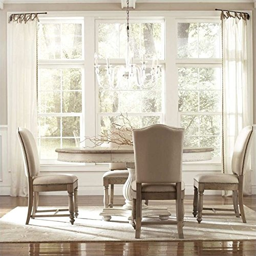 Riverside Dining Furniture - Riverside Furniture Coventry 5 Piece Dining Table Set in Weathered Driftwood and Dover White