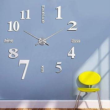 DIY Design Wand Uhr Wohnzimmer Wanduhr Spiegel Wandtattoo ...