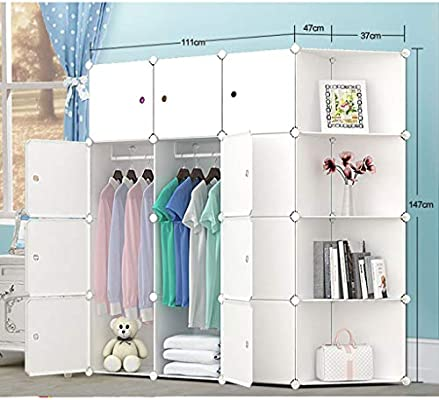 Armario de Almacenamiento de Gran Capacidad de Acabado Simple combinación de Resina Armario de Dibujos Animados para bebés armarios de Almacenamiento Armario Plegable (Color : C): Amazon.es: Hogar