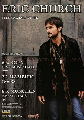 Eric Church - Talladega 2014 - Concert Poster