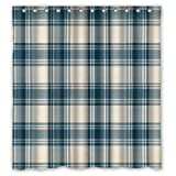 img - for Home Curtain Cute Abstract Checked Pattern Shower Curtain With Rings Blue And White Classic Elegant Latticework Plaid Pattern Theme Print 100% Polyester Bathroom Shower Curtain With Rings 66x72inch book / textbook / text book