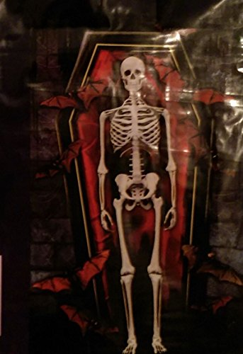 Halloween Wall Decoration Skeleton in Coffin Creepy, Scary (Scary Halloween Coffins)