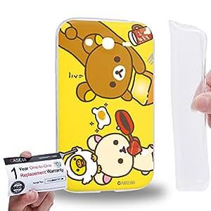 Case88 [Samsung Galaxy Grand Duos i9082 i9080] Gel TPU Carcasa/Funda & Tarjeta de garantía - Rilakkuma Korilakuma Kiiroitori Kaoru Collection 1354