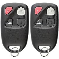 KeylessOption Keyless Entry Remote Control Car Key Fob Clicker for Mazda Protege KPU41015 (Pack of 2)