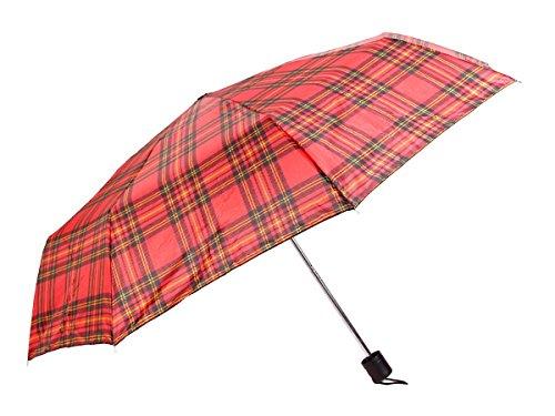 Alsino Dots Regenschirm Mini kariert aus Polyester Taschenschirm Durchmesser 87 cm mit Hülle 61/1956 rot klein kariert A9ziG6wIz