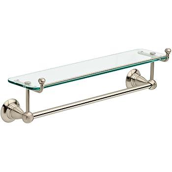 Amazon.com: Organize It All Satin Nickel Glass Shelf with