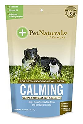 Pet Natural's of Vermont 30 Count Calming Behavioral Support Soft Chews for Dogs and Cats