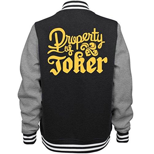 Customized Girl Joker's Golden Property: Ladies Fleece Letterman