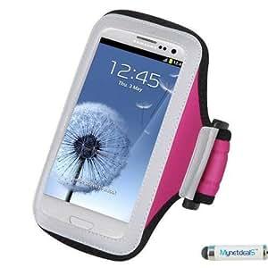 Premium Sport Armband Case for Huawei Ascend Y300, Ascend W1, Y301 (Valiant), H881C (Ascend Plus), M866 (Ascend Y), M920 (Activa 4G), M865 (Ascend II), 536A, H867G (Inspira), H883G (W1), U8686 (Prism II), U8680 (myTouch), M886 (Mercury) (Hot Pink) + Mini Smart Phone Touch Screen Stylus