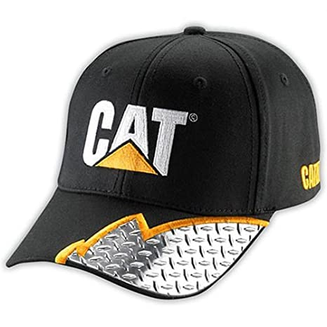 f63a371e Amazon.com: Caterpillar CAT Visor Diamond Plate Embroidered Cap: Sports &  Outdoors