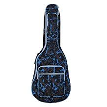 DUOER Water-resistant Oxford Cloth Camouflage Blue Double Stitched Padded Straps Bag Guitar Carrying Case for 41 inch Acoustic Classic Folk Guitar