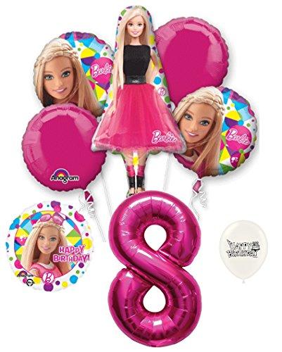Price comparison product image 8th Birthday Barbie Party Decorations Balloon Bouquet Bundle
