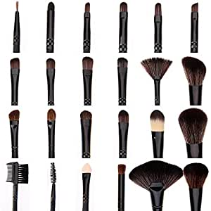 ACEVIVI Makeup Brushes - 24 PIECE Premium Makeup Brush Kit Handle Synthetic Kabuki Foundation Cosmetic Brushes for Powder Liquid Cream