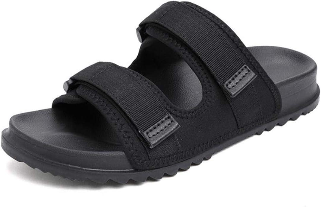 Zapatos Diabéticos Anchas Edema Hinchazón Zapatillas Comfort Zapatos Mayores Calzado Quirúrgico Ajustables Zapatos Ortopédicos Anti Slip Sandalias De Punta Abierta para Diabéticos,Negro,43