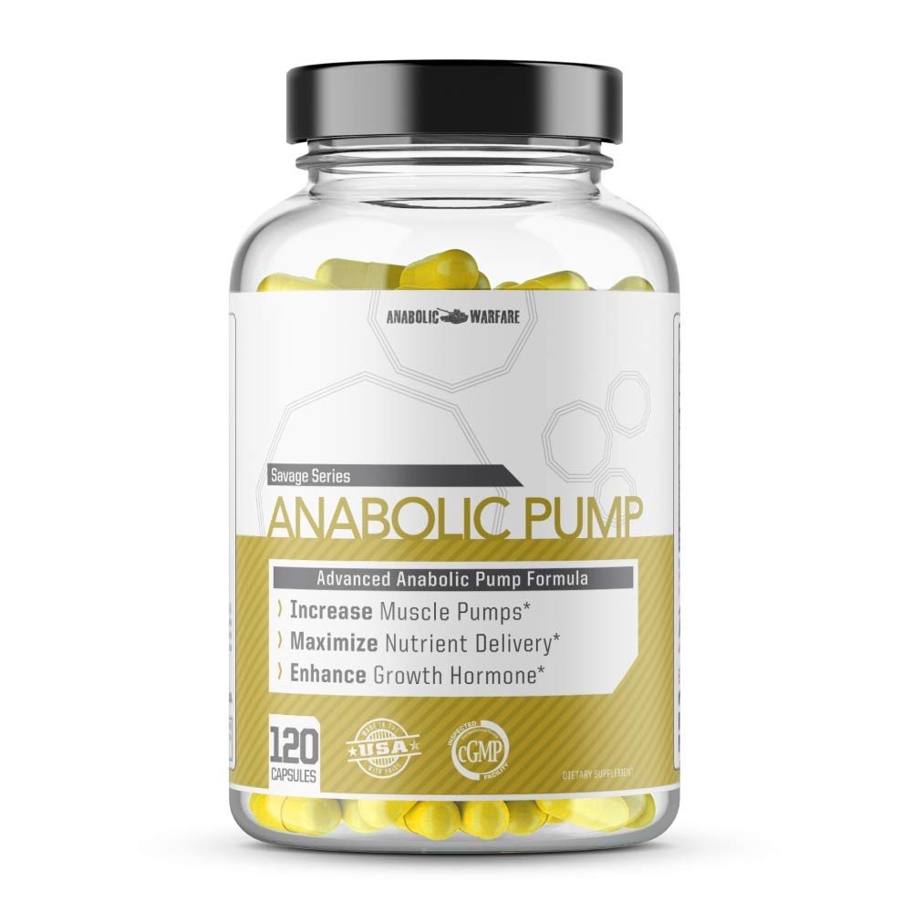 Anabolic Pump Supplement by Anabolic Warfare - with Mucuna Pruriens, Ursolic Acid and Arachidonic Acid (120 Capsules)