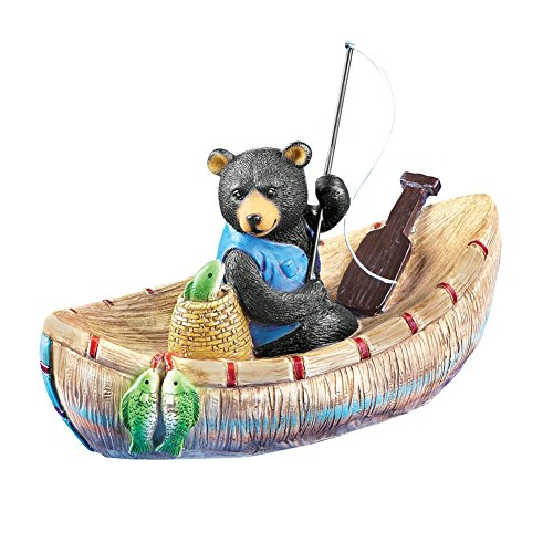 Fishing Bear Boat Floater Resin