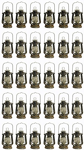 Lot of 30 - 8 Inch Silver Hurricane Kerosene Oil Lantern Hanging Light / Lamp by Shop4Omni