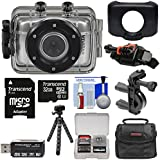 Vivitar DVR781HD HD Waterproof Action Video Camera Camcorder (Silver) with 32GB Card + Helmet & Bike Mounts + Case + Tripod + Kit